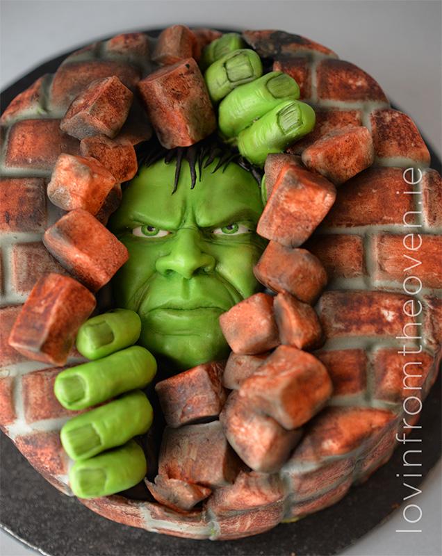 Hulk Smash Lovin from the oven