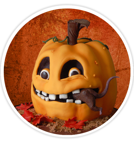 FREE Wicked Pumpkin Cake Tutorial